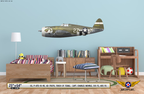 "P-47D Thunderbolt ""Touch of Texas"" Decorative Vinyl Decal"