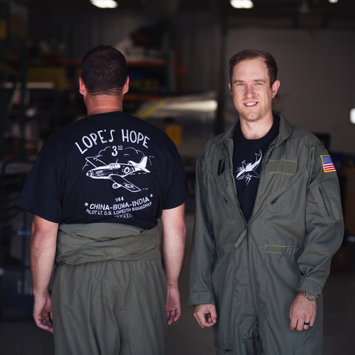 Lope's Hope 3rd Pilots Edition Tee Lifestyle Shot