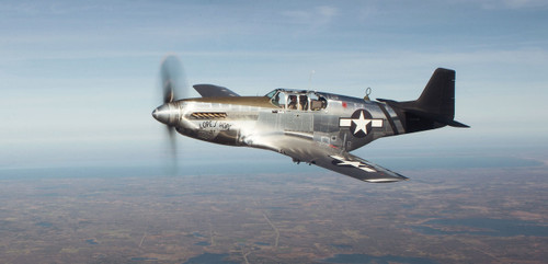 """P-51C Mustang """"Lope's Hope 3rd"""" Pilots Edition T-Shirt, Book, and Print Combo Package"""
