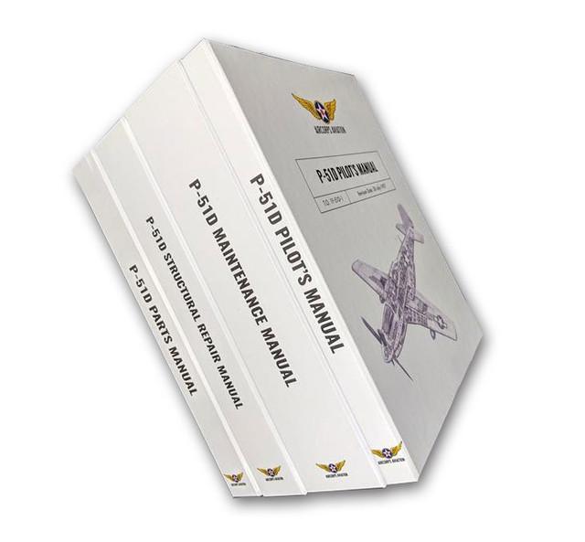 P-51D Mustang Premium Bound Aircraft Manual Collection