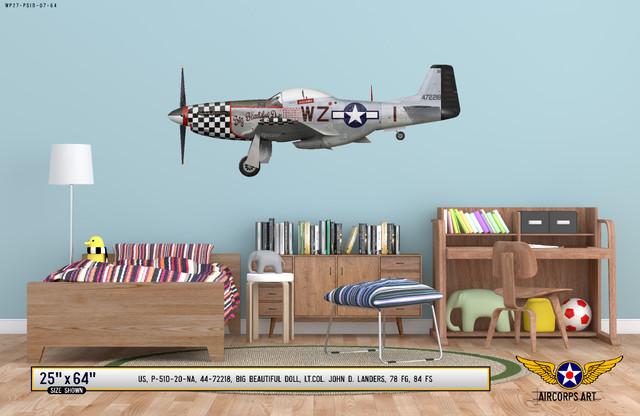 "P-51D Mustang ""Big Beautiful Doll"" Decorative Vinyl Decal"