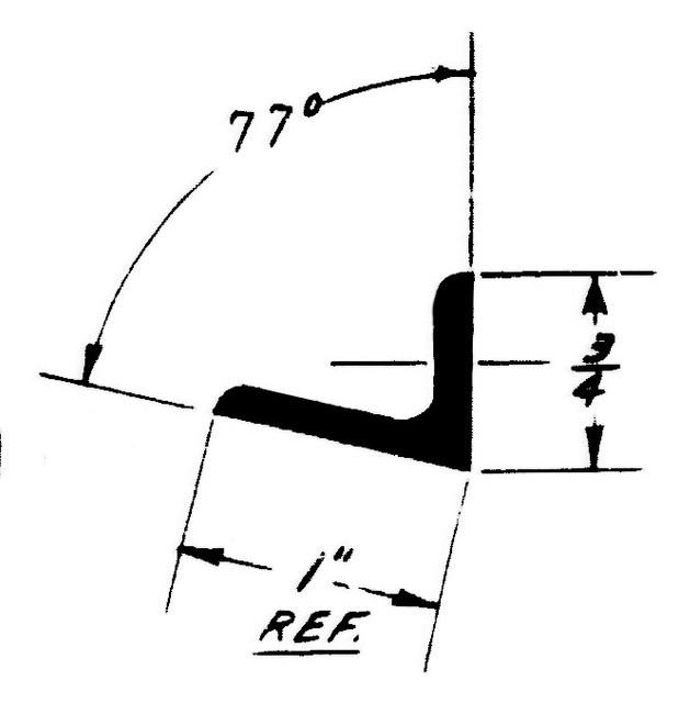 """1E59T Extrusion - Metallic Angle - 1.000"""" x .750"""" - 2024-T3511"""