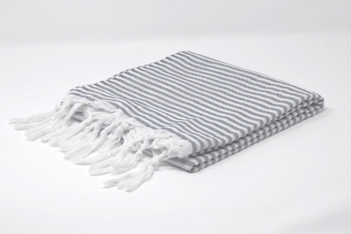 Candy Stripe Black and White Turkish Towel