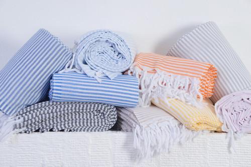St. Thomas,  Striped Turkish Beach Towel Color Variations