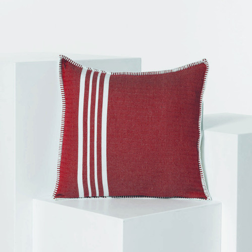 Whip Stitch Pillow 28 x 28 Red