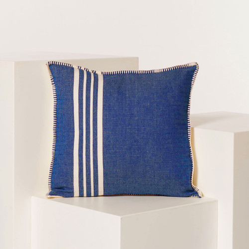 Whip Stitch Pillow 28 x 28 Royal Blue