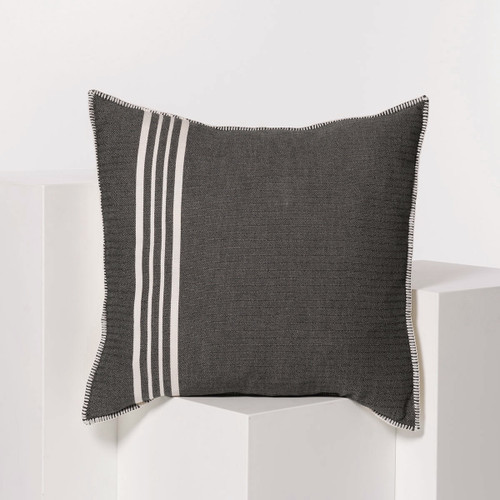 Whip Stitch Pillow 28 x 28 BLACK