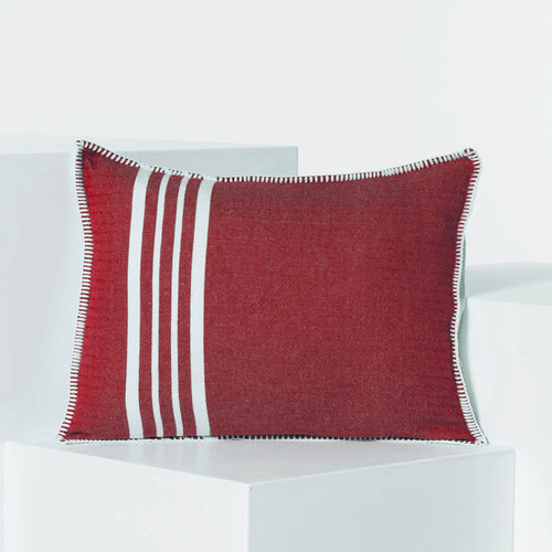 Whip Stitch Pillow 18 x 14 RED
