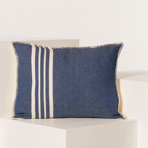 Whip Stitch Pillow 18 x 14 NAVY