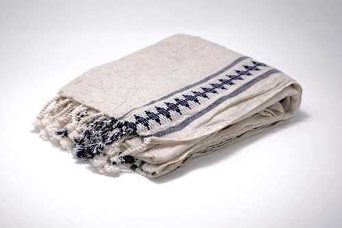 Hand Loomed Black Towel/Scarf/ Pareo