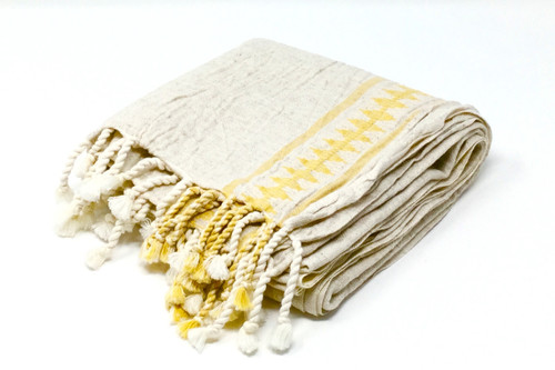 Athens, Hand Loomed Towel | Pareo in Yellow