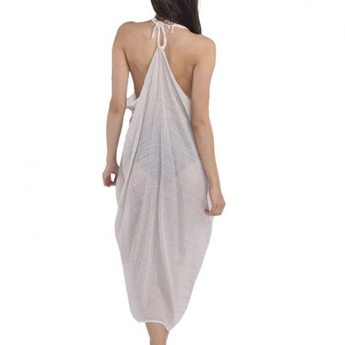 Saint Tropez Cover-Up, Hand loomed  two tones cotton & linen blend