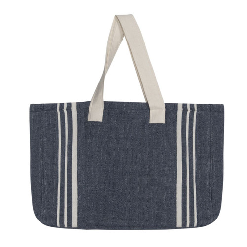 Navy Beach Bag