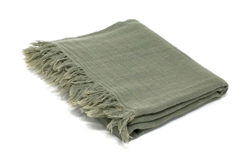 Vieques, Meditation Scarf  in Army Green