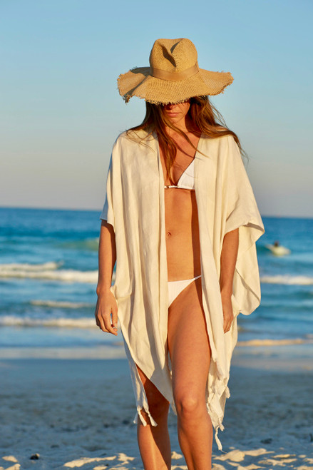 Tulum Hand Loomed Kimono Cover up