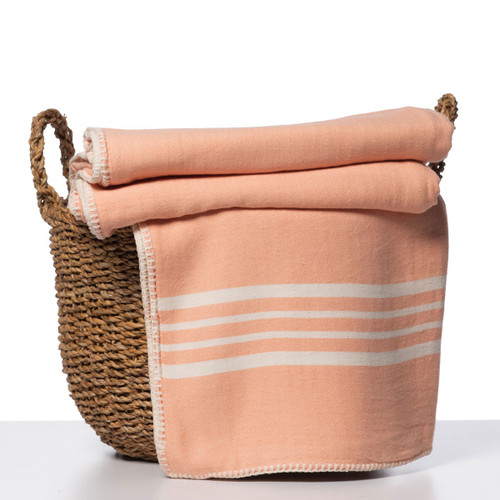 Reversible Whip Stitched Coverlet Melon