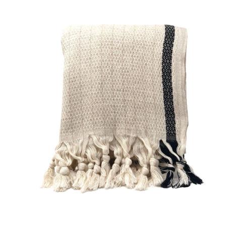 Tulum Natural Honeycomb Beach Towel