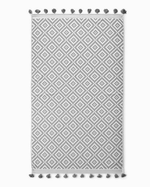 Navy and Grey Mosaic Towel