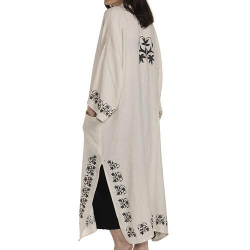 Cyprus Block Printed Kimono | Black