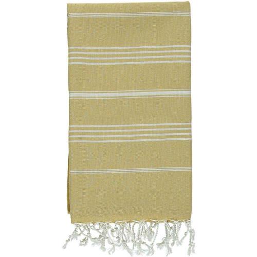 Bimini,  Striped  Turkish Beach Towel in Mustard