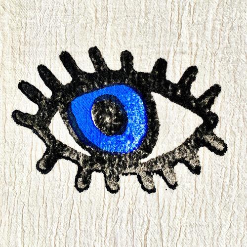 Turkish Eye Block Printed Beach Towel | Blue Eyes