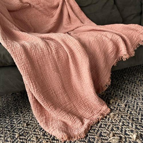 Cotton Fluffy Terracota Throw