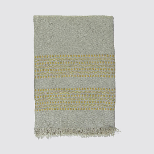 Golden and Natural  Woven Throw
