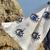 Turkish Eye Block Printed Robe Towel   Blue Eyes