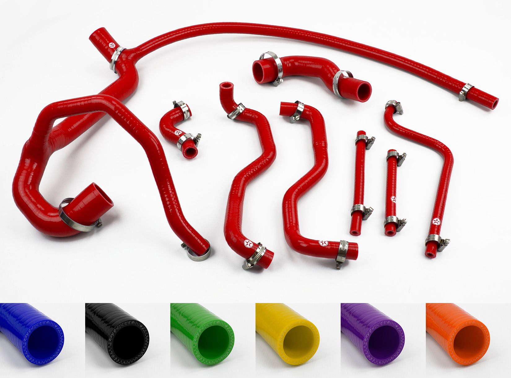 Stoney Racing Land Rover Defender 300TDI Silicone Coolant Hose Kit 90//110 Red