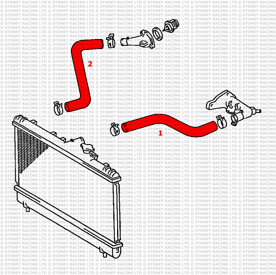 Toyota Celica Gt 2 0 St202 Silicone Radiator Hose Kit Stoney Racing