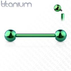 Internally Threaded PVD over Implant Grade Solid Titanium Barbells