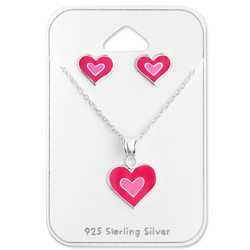 Silver Heart Set on Card