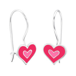 Children's Silver Heart Earrings