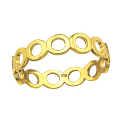 Children's Silver Circle Link Ring - Gold
