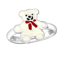 Children's Silver Bear Adjustable Ring