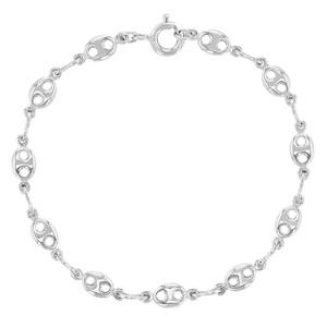 "925 Sterling Silver Chain Link Toddler Bracelet Kids for Boys or Girls 5.5"""