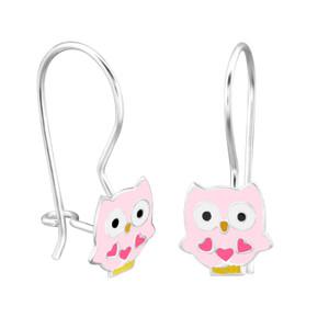 Children's Silver Owl Earrings