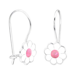 Children's Silver Flower Earrings