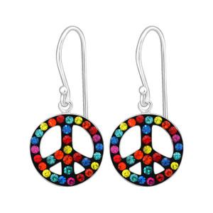 Children's Silver Peace Earrings