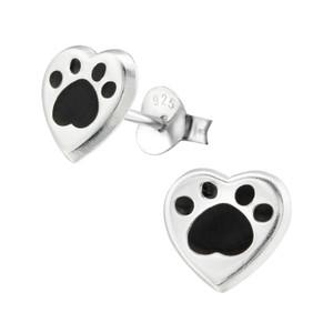 Children's Silver Heart Ear Studs - EF21828