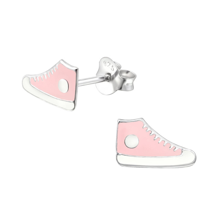 Children's Silver Sneaker Ear Studs - EF22069