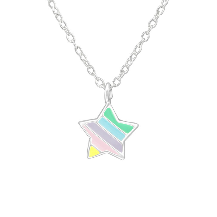 Children's Silver Star Necklace