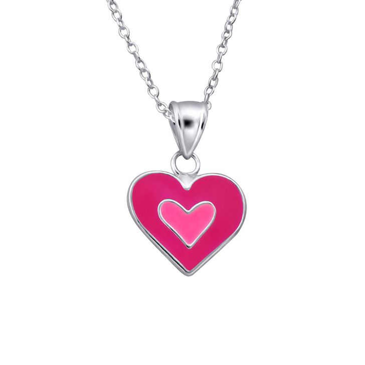 Children's Silver Heart Necklace