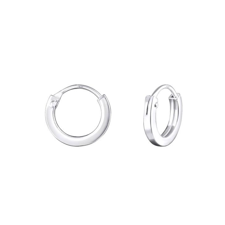 10mm Silver Ear Hoops
