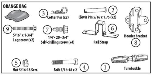MOUNTING PARTS PACK (ORANGE BAG) - 39010RS