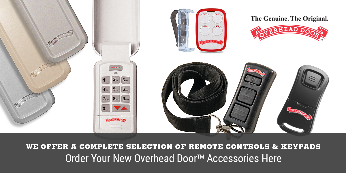 We offer a complete selection of remote controls and keypads. Order your new Overhead Door accessories here