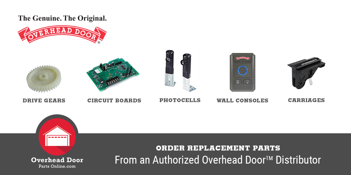 Order replacement parts from an authorized Overhead Door distributor