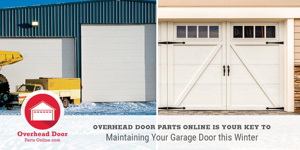 Overhead Door Parts Online is your key to maintaining your garage door this winter