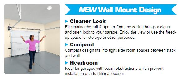 Genie 6070 Wall Mount Garage Door Opener Overhead Door