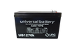 12 Volts 7Ah -Terminal F1 - SLA/AGM Battery - Front View | Battery Specialist Canada